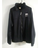 MENS VINTAGE United States Olympic Committee USA Track Jacket USA MADE XL - $17.81