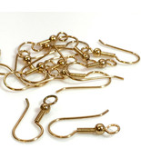 24 Pcs-Ear Wires 12K Gold Plated Earring Hooks Coil Fishhook With Ball 2... - $3.77