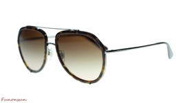 Dolce Gabbana Women Sunglasses DG2161 04/13 Havana Gunmetal/Brown Lens 55mm - $174.59