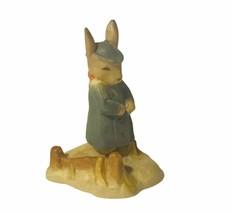 Beatrix Potter Figurine Peter Rabbit Italy Miniature resin vtg gift deco... - $23.71
