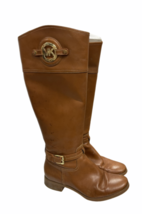MICHAEL KORS Stockard Women's Brown Riding Equestrian Boots Size 7.5 - $55.19