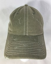 Baseball Hat Cap Green Distressed Adjustable Buckle  - $19.80