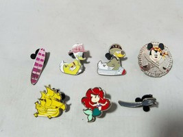 Disney Trading Pins Official Nautical Theme Lot of 7 Collectible Characters - $19.28