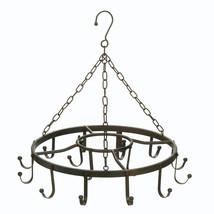 Black Iron Circular Hanging Pot, Pan Rack - $56.95