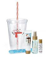 5 pc Insulated Cup Set Lotion, Lip Balm, Body Mist & Nail File STOCKING ... - $9.50