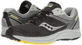 Saucony Uomo Nero/Grigio/Giallo Cohesion 10 Corsa Runners Scarpe Sneaker Nib image 7