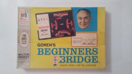1967 Gorens Beginners Bridge Milton Bradley Game 4754 Learn To Play Bridge - $19.95