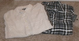 Lot of 2 Covington Essentials Womens Button Down Shirt Size Medium - NWO... - $29.99