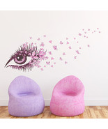ZOOYOO® Creative Fairies Girl Butterfly Flowers Eyes Art Decal Wall Stic... - $4.70