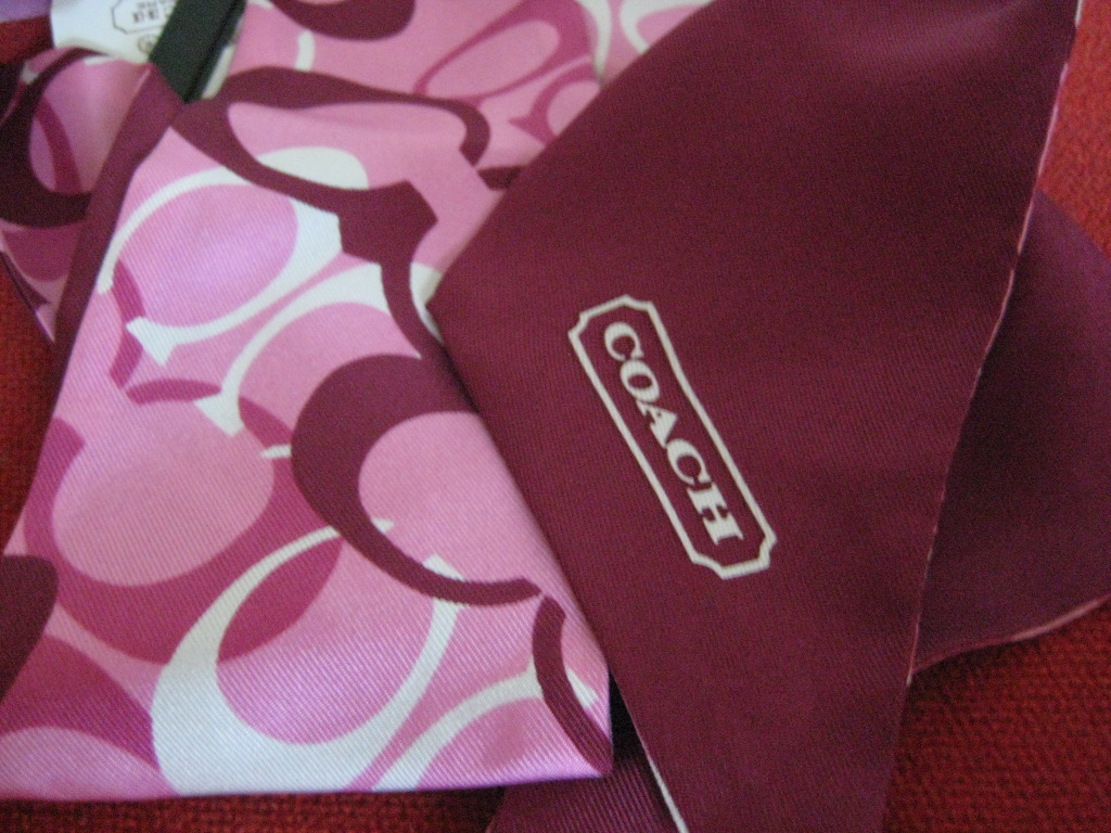 COACH OP Art Signature Silk Headscarf NWT 98932
