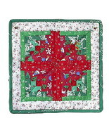 Christmas Mug Rug, table mat handmade OOAK quil... - $15.00