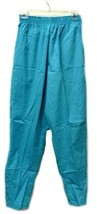 Ladies Elastic Waist Mediterranean Green Small Scrub Pants Bottoms Nurses New - $19.57
