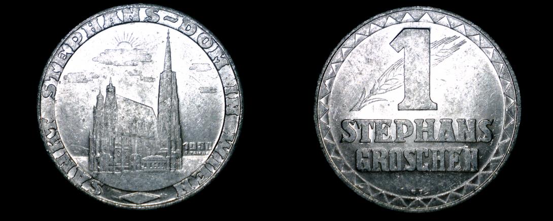 1950 Saint Stephans Cathedral Groschen - $9.99