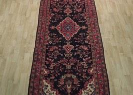 Tribal Wide Gallery Runner Persian Genuine Handmade 4x10 Black Sarouk Wool Rug image 12
