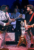 Eric Clapton B.B. King On Stage With Guitars Cool Image 18x24 Poster - $23.99