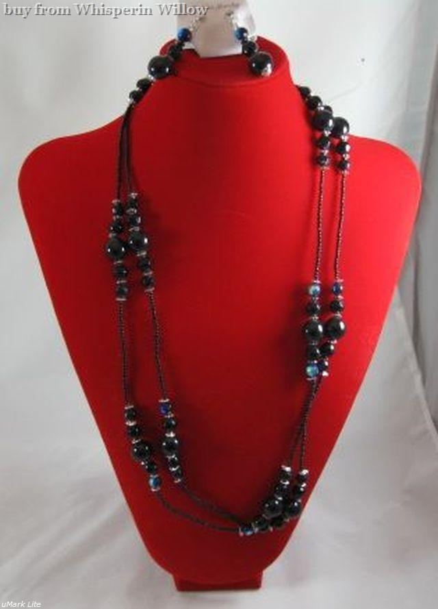 Primary image for Glass and Steel Fashion Jewelry Set