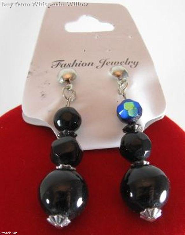 Glass and Steel Fashion Jewelry Set