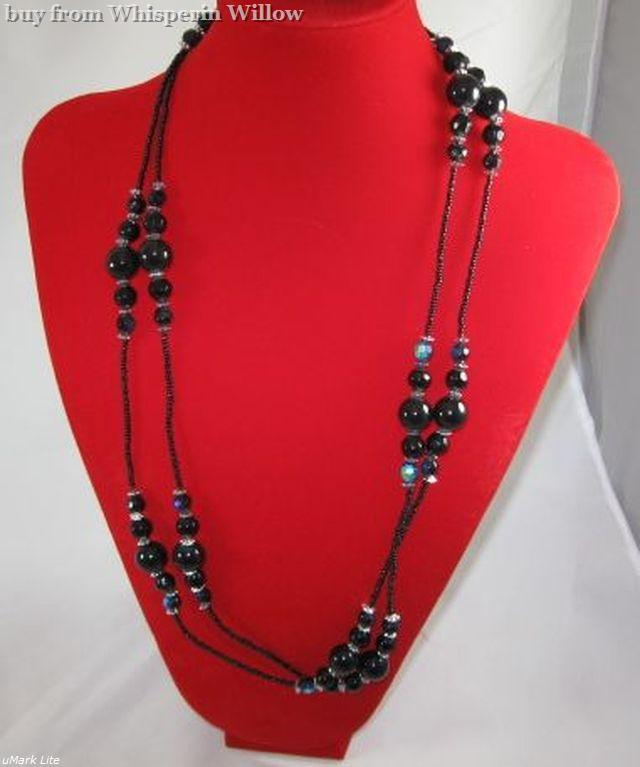 Glass and Steel Fashion Jewelry Set