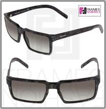 Prada 03S Technique Square Grey Black Marble Gradient Sunglasses Unisex PR03SS - $242.55