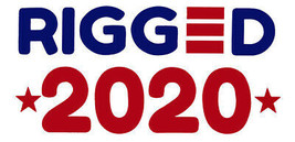 Wholesale Lot of 6 Rigged *2020* White Vinyl Decal Bumper Sticker - $6.99