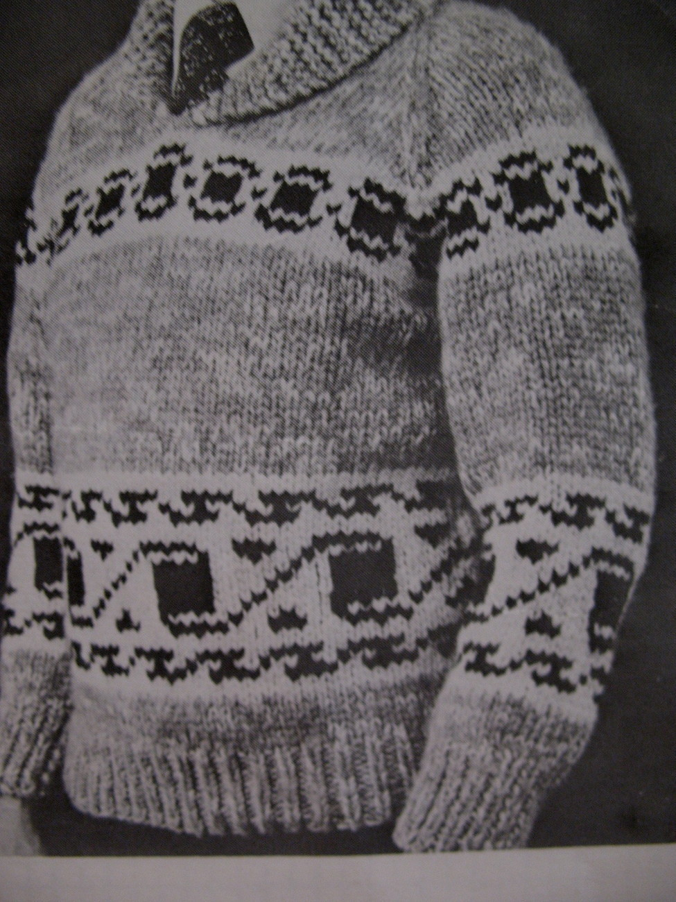 White Buffalo Canadian Cowichan Sweater Knitting Pattern
