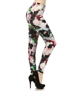 Lady's The Celestine Aura Flower Fashion Legging - $15.99