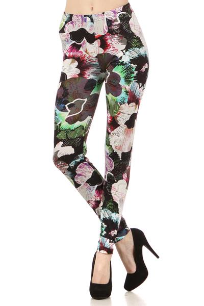 Lady's The Celestine Aura Flower Fashion Legging