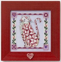 Scarlet quilted cat cross stitch kit Jim Shore - $13.95