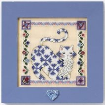 Sapphire quilted cat cross stitch kit Jim Shore - $13.95