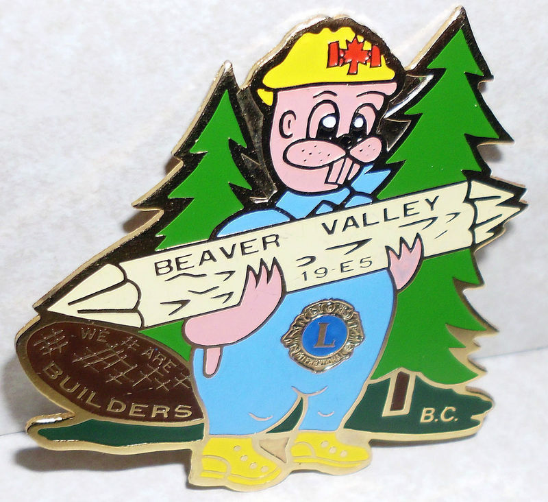 Lions Club Beaver Valley 19-E5 We Are Builders B C Pin Hong Woon Co Taipei Taiwa