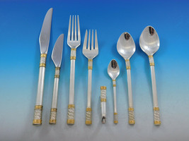 Aegean Weave Gold by Wallace Sterling Silver Flatware Set 12 Service 105... - $6,250.00