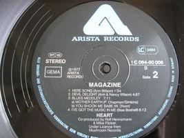 Heart Magazine Version 1 Mushroom Arista 1C06460008 German Press Vinyl Record LP image 6