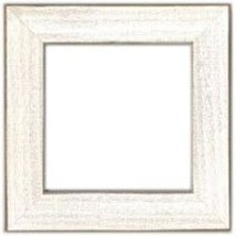 Antique White matte wooden frame opening 5.5 x 5.5 Mill Hill  - $14.40