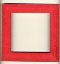 Holiday Red matte wooden frame opening 5.5 x 5.5 Mill Hill  - $14.40
