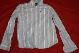 Abercrombie Little Boys Blue Stripped Button up Dress Shirt Sz S - $7.43