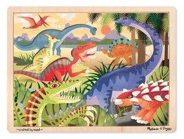 Melissa & Doug Dinosaurs Wooden Jigsaw Puzzle With Storage Tray (24 pcs) - $9.99