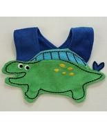 NEW Green Dinosaur Baby Boys Terry Cloth Teething Drool Bib - $3.95