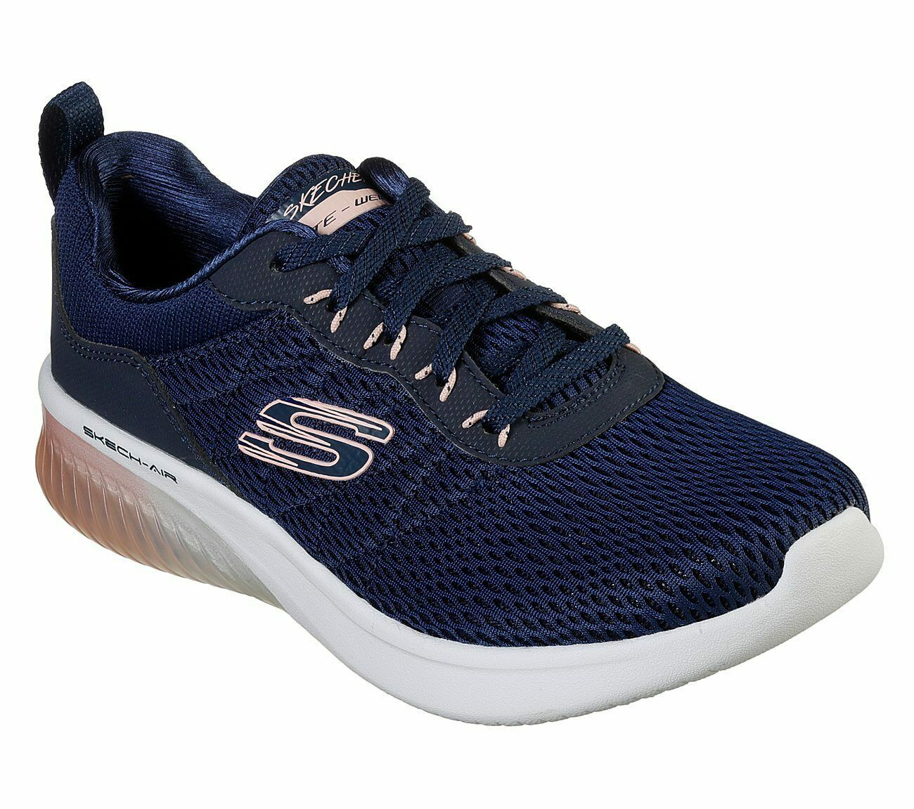 Skechers Navy Pink shoes Memory Foam Women's Sporty Air Ultra Flex Comfort 13290