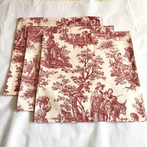"3 Waverly Red Toile 16"" Country Life Country Weekend Pillow Covers Frenc... - $45.54"
