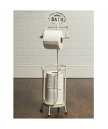 Farmhouse BATH TISSUE STAND Country Rustic Bathroom Toilet Paper Roll Ho... - $59.99