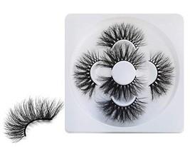 HICOCU 25mm Lashes Real Mink 3 Pairs False Eyelashes Dramatic Look Eyela... - €12,37 EUR