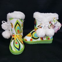 Dawgs Loudmouth Shagadelic Side Tie Furry Boots Water Slip Resistant Tod... - £29.77 GBP