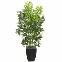 Luxury Multicolor 5.5' Paradise Palm Artificial Tree in Square Planter - 5.5 Ft. - $278.83