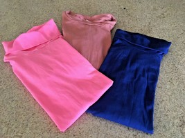 Girl's Lot Of 3 Cotton/Polyester Long Sleeve Tee Shirts (7-8) - $14.03