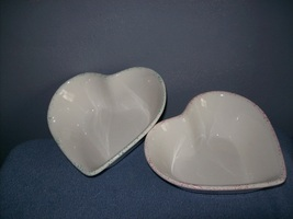 2 Decorative Heart Shaped Serving Bowls - $6.00