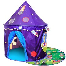 Homfu Play Tent for Kids Castle Playhouse with Space Pattern for Childre... - $41.95