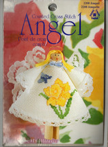Counted Cross Stitch Kit Clothespin Angel Floral Flower Patterns You Pick  - $15.22
