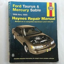 Ford Taurus & Mercury Sable  1986-1995  Haynes Repair Manual, Service Book - $11.39