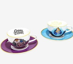 Disney Alice In Wonderland Alice Cheshire Cat Bone China 6.7oz Tea Cup Set - $45.04