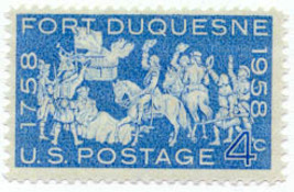 1958 4c Fort Duquesne, French Fort Scott 1123 Mint F/VF NH - $0.99
